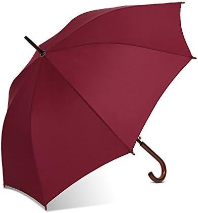 ZQ@QXExtra-grande con manico in in in legno semi uomini ombrello , rosso | Costi Moderati  | Grande Varietà  e15af7