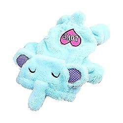 Generic Pet Dog Sweater Puppy Velvet Hoodie Winter Jumpsuit Outwear Blue Elephant S