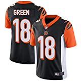 Majestic Athletic NFL Football Jersey Bengals 18# Green T-Shirt Bequem und Atmungsaktiv Trikot -