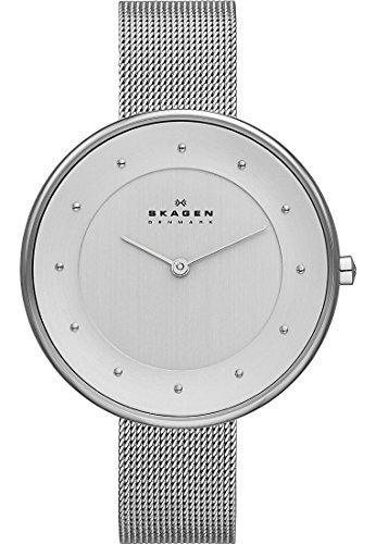 Skagen-Damen-Armbanduhr-Analog-Quarz-One-Size-wei