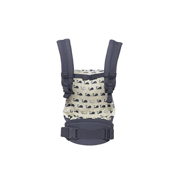 "Ergobaby Baby Carrier Front and Back Original Marine 5.5 to 20kg, Ergonomic Breathable Child Carrier Backpack, BCANMARINE Ergobaby Ergonomic Baby Carrier - Ergonomic for baby with wide deep seat for a spread-squat, natural ""M"" seated position. Baby carrying system with 3 carry positions:  front-inward, hip and back. From baby to toddler: 5.5*-20 kg / 12*-45 lbs (* from 3.2-5.5 kg / 7-12 lbs with Infant Insert, sold separately). Maximum wearing comfort - Lumbar support waistbelt (adjustable from 66-140 cm / 26-52 in) that can be adjusted to the height of the carry position. Longer lasting wearing comfort thanks to optimum weight distribution across the wearer's shoulders and hips. 8"
