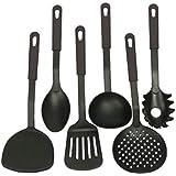 Jubilant Lifestyle Stainless Steel & Nylon Kitchen Serving Spoon/Tool Set (Nylon 6pc)