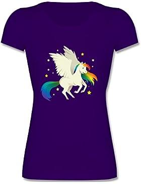 Shirtracer Up to Date Kind - Pegasus - Mädchen T-Shirt