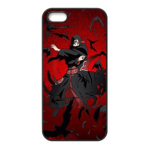 Naruto Étui de protection en silicone et TPU Étui avec Screen Protector, Mobile Phone Case Back Cover pour Iphone 5S Blanc Noir for iPhone 55S (White/Black)