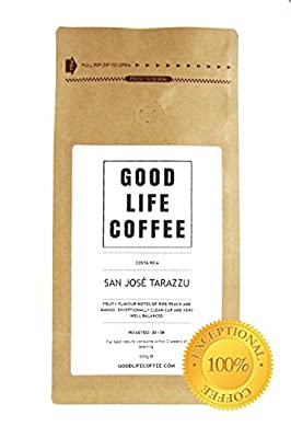 GOOD LIFE - Costa Rica Coffee Beans, Roasted to Order, Fairtrade & Organic Single Origin Coffee from Finca La Pira, Dota Tarazzu, Premium Gourmet Specialty Coffee is Delightfully Delicious, Full of Fresh Flavour, Enjoy Award Winning Arabica Coffee Beans,
