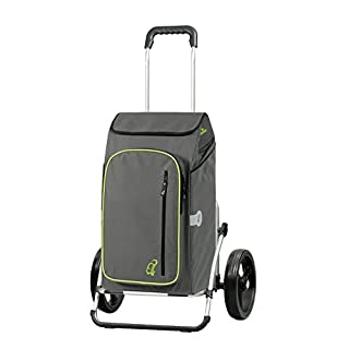 Andersen Shopping trolley Royal XXL with bag Toto grey, Volume 56L, thermal bag, aluminium frame and 3-spoked wheels