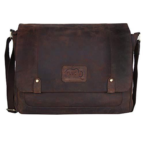 der Tasche Vintage Laptoptasche bis 17 Zoll Herren Damen Unisex Umhängetasche Aktentasche Schultertasche für Büro Notebook Messenger Bag Laptop iPad, 41x31x12cm ()
