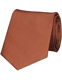 Tiekart Brown Classic Silk Plain Solid Necktie for men