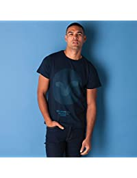 VOI Mens Jeans Mens Fold T-Shirt in Navy - S