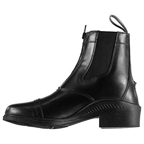 Brogini Donna Tivoli Zip Stivali Pannelli Elasticizzati Da Equitazione In Pelle Nero