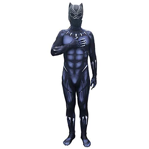 QQWE Marvel Hero Black Panther Cosplay Kostüm Halloween Weihnachten Bodysuit Kostüm Overalls Kostüm Party Party Requisiten,Adult-M