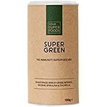 Your Superfoods Super Green Superfood Smoothie Pulver, 1er Pack (1 x 100 g)