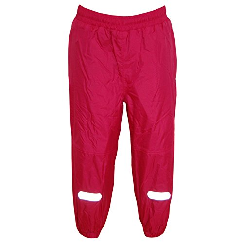 Outburst - Mädchen Regenhose Matschhose Fleecefutter wasserundurchlässig, pink, Größe 116