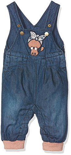 NAME IT Baby-Mädchen Jeanshose Nitbasta Bag/R Dnm Overall Mznb, Blau (Medium Blue Denim Medium Blue Denim), 62
