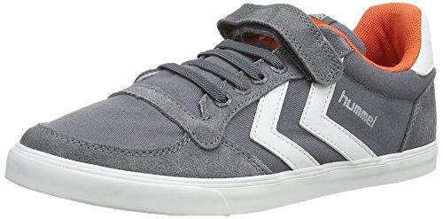 Hummel Sl Stadil Jr Canvas Lo, Chaussons Sneaker Garçon Gris (Castle Rock)