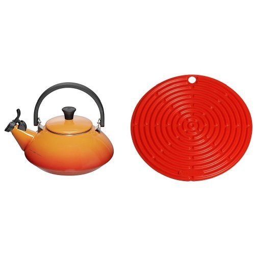 41rfyIjvvjL. SS500  - Le Creuset Zen Kettle with Whistle, 1.5 L - Volcanic with Cooling Tool