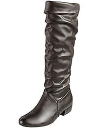 9ba8ca2f7287 Amazon.fr   bottes plates femme   Chaussures et Sacs
