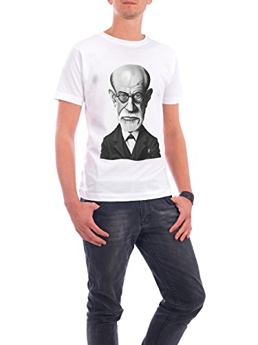"Design T-Shirt Männer Continental Cotton ""Sigmund Freud"" - stylisches Shirt Film von Rob Snow Weiß"