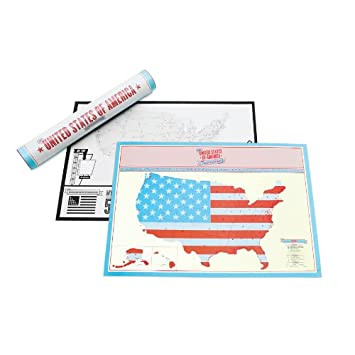 Scratch Off USA Travel Edition Personalised World Map By Luckies - Scratch off us map