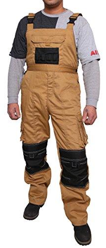 Qaswa Salopette da lavoro uomo Pantaloni da lavoro