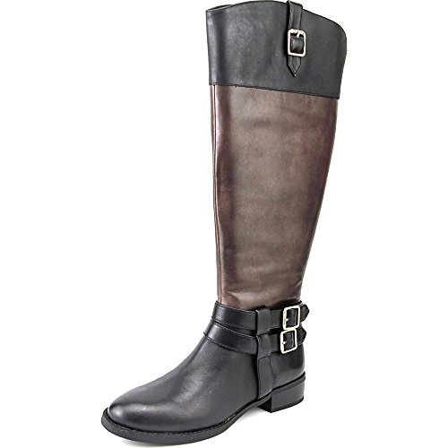 INC International Concepts Fahnee Wide Calf Cuir Botte Bl-Cog-WC