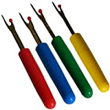 4 Nahttrenner - Saumtrenner - Pfeiltrenner in verschiedenen Farben.