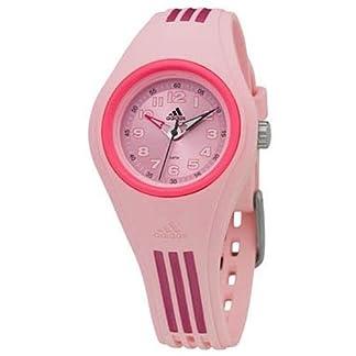 Adidas ADM2019 – Reloj de mujer de cuarzo, correa de plástico color rosa