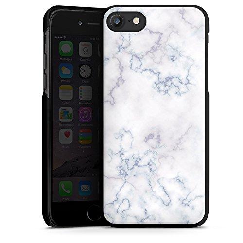 Apple iPhone X Silikon Hülle Case Schutzhülle Marmoriert Marble Marmor Look Hard Case schwarz