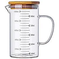 WEIZI Vasos de Vidrio, casa de Vidrio Taza de medición con Graduado de Vidrio, Resistente al Calor del cubilete Larga Vida práctica, aparatos prácticos. (Size : 500 ml)