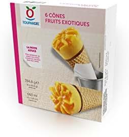 Toupargel 6 Cônes Fruit Exotiques 395 g
