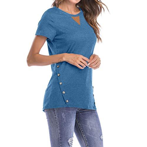 Pullover per le donne vovotrade top slim fit casual maglieria a maniche corte abbottonata