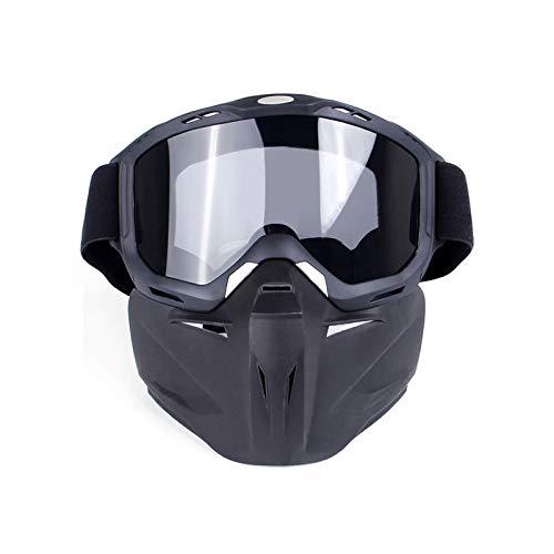 DOLOVE Motorradbrille Nacht Brille Winddicht Radsport Schutzbrille Infrarotlampe Durchsichtig Lens