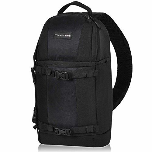 Kamerarucksack CAMBAG Fotorucksack D-SLR Laptop Rucksack Kameratasche Schwarz - Auswahl (Preston - Sling Backpack Medium)