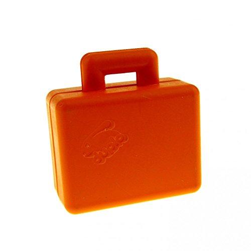 1 x Lego Duplo Koffer orange Figur Zubehör Puppenhaus Möbel Reise Tasche Safari Suitcase 6427