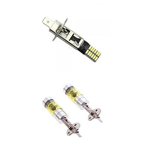 CITALL 2 pi/èces de H1 type LED 100W 1000LM 8500K combinaison voiture brouillard DRL lampe de conduite ampoule