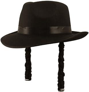 Hat Orthodox Jewish Rabbi With Curly Sideburns Man Fancy