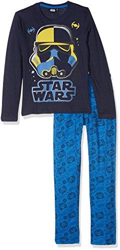 STAR WARS 162038, Ensemble de Pyjama Garçon, Bleu (Bleu), 6 Ans (Taille Fabricant: 6 Ans)