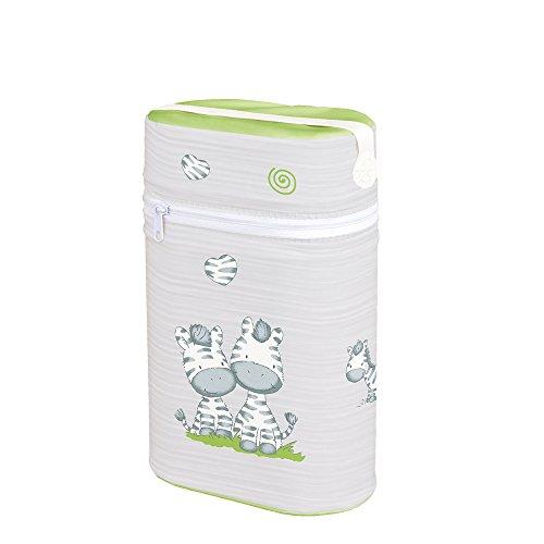 Warmhaltebox für 2 Flaschen Isoliertasche Babyflasche Thermobox Tasche Doppelt ZEBRA