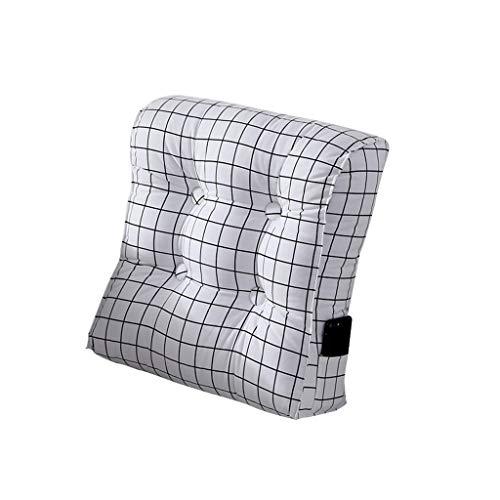 Dossier De Chevet Oreiller de coin réglable oreiller de lecture oreiller de triangle jette en arrière appui de dos oreillers d'angle flex canapé canapé lit chaise de bureau reste coussin de cou, 47X50