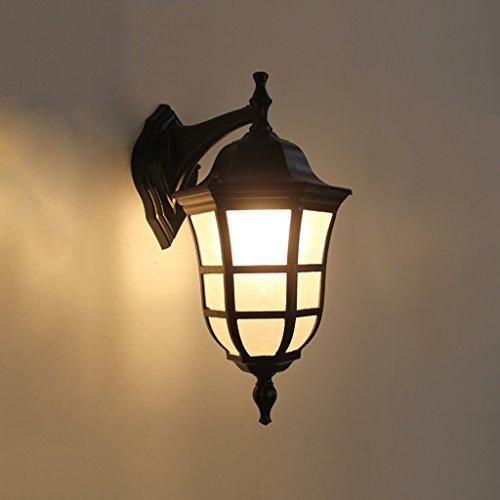 Adelaide - retrò luce esterna impermeabile porta di ferro semplice industriale negozio vento lampada da parete americano studio camera da letto