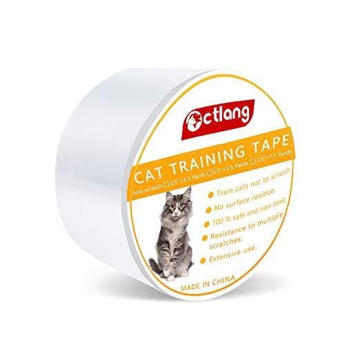 Jusoo Anti-Kratz-Katzen-Training-Klebeband, Katzen-Kratzabschreckung, Haustier-Teppich-Schutz für Möbel, Couch, Stuhl, Sofa, Teppich und Tür (Klebeband Katze)