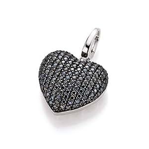 Spirit - New York Damen-Anhänger 925 Silber rhodiniert Zirkonia schwarz Brillantschliff - 98000293