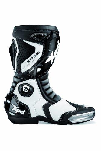 Xpd s55-011 stivali da moto xp3-s, misura 43, nero/bianco