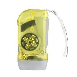 3 torcia LED torcia dinamo vento fino torcia elettrica torcia a mano premere manovella NR Campeggio-giallo