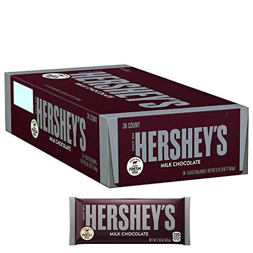 HERSHEY'S® Chocolate Bar - MILK CHOCOLATE (43 g) [36er Karton] (Hersheys Milk Chocolate Bar)