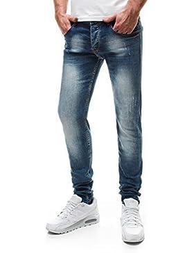 OZONEE Jeans Pantaloni da Uomo Skinny Taglio Diritto BRUNO LEONI 195