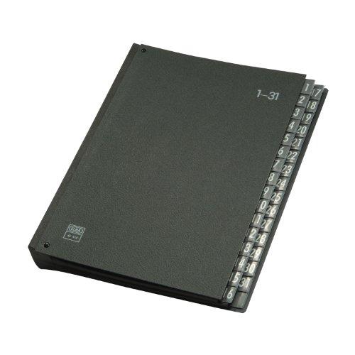 ELBA 400001962 Pultordner Hartpappe 320 g/m² vorstehende Taben 1-31 - 32 Fächer schwarz