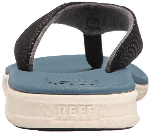 Reef Rover, Tongs Homme, Noir / Blanc, 9 EU Steel Blue