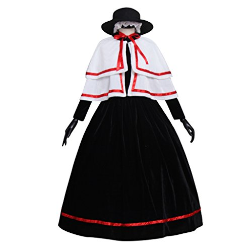 Cosplayitem Damen Mädchen Mittelalterlichen Viktorianischen Kleid Lolita Renaissance Kostüm Ballkleid Kleid Hut Schal Schwarz