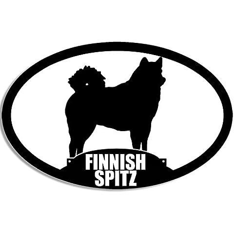 Finlandese SPITZ adesivo ovale, motivo: cane razza)